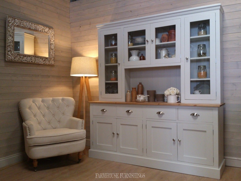 Solid Pine Hand Painted Welsh Dresser Farmhouse Furnishings