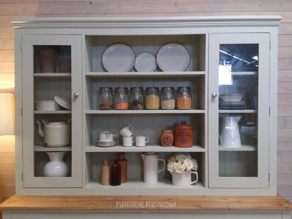 768 #896A42 Hand Made Solid Pine Painted Welsh Dresser Farmhouse Furnishings wallpaper 3ft French Doors 46651024
