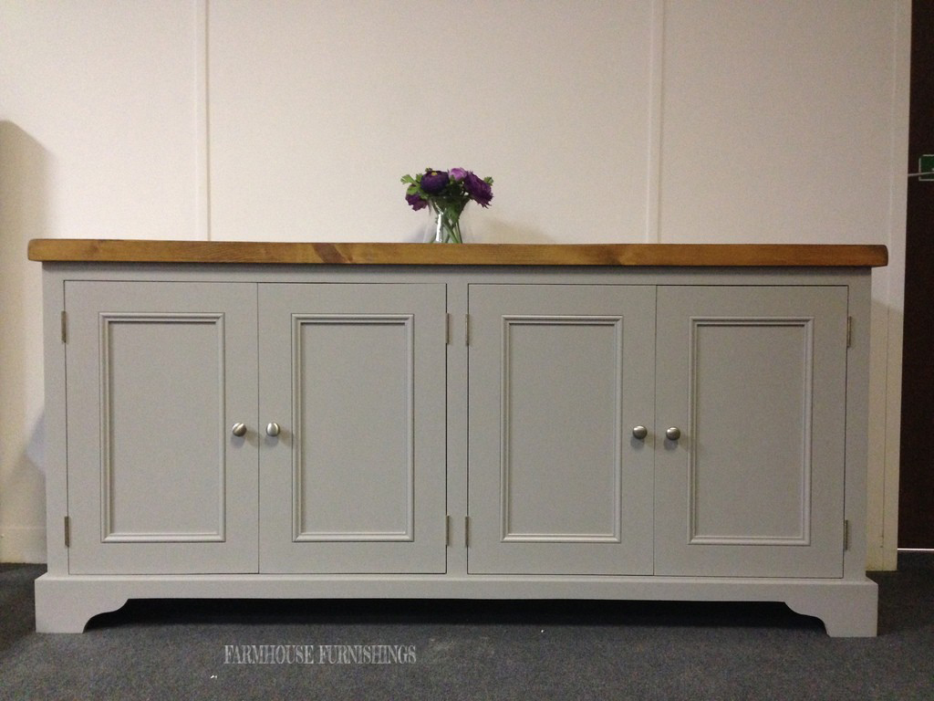 Painted pine sideboards solid pine plank top 6ft for Painted buffet sideboard