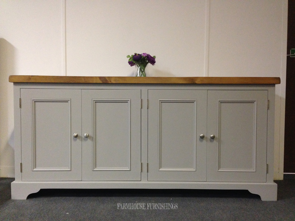 Solid Pine Plank Top 6ft Sideboard Farmhouse Furnishings