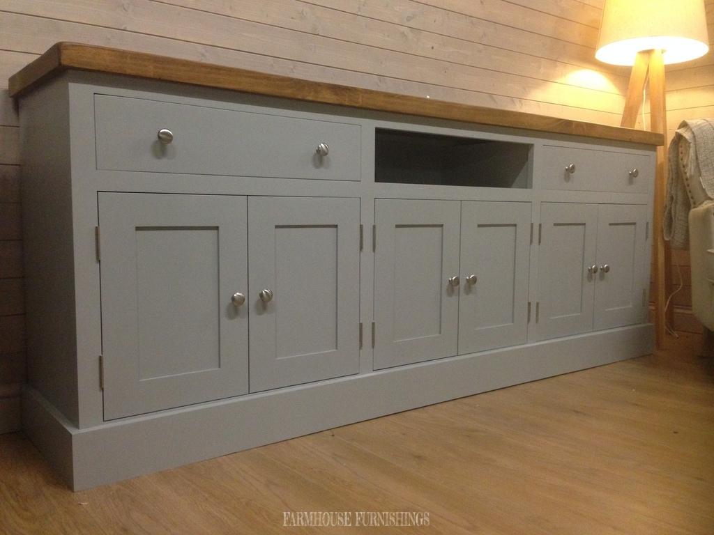 huge 7ft plank top sideboard tv unit farmhouse furnishings. Black Bedroom Furniture Sets. Home Design Ideas