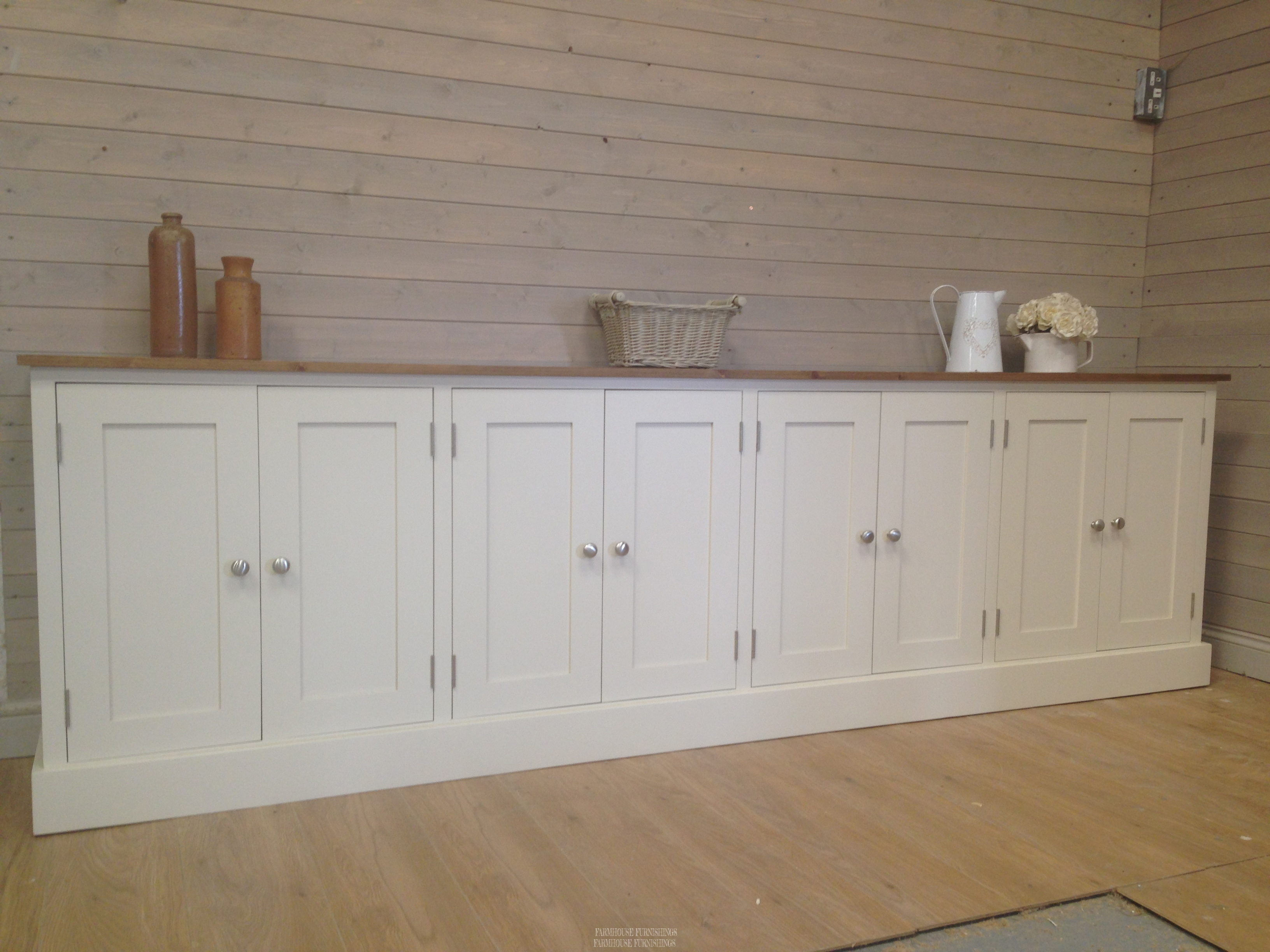 Pine Sideboards Solid Pine 9ft Sideboard Farmhouse